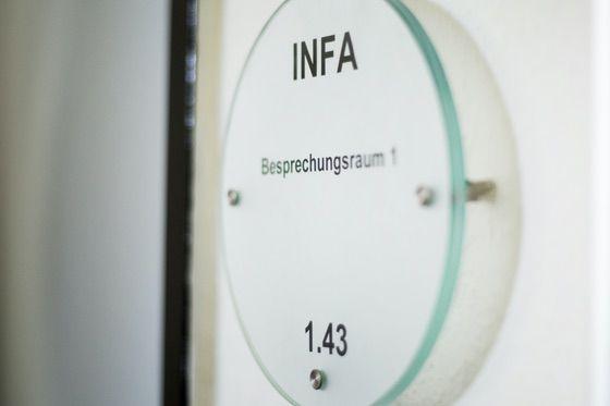 Türschild INFA Besprechungsraum