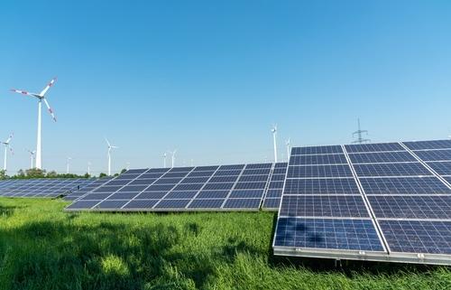 Solaranlage Solarfeld